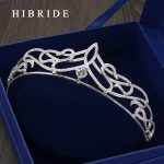 HIBRIDE New Classic Queen Top Crystal Tiaras Crowns for Women Fashion Hair <b>Jewelry</b> for Brides Shine Full of Pure <b>Wedding</b> HC00005