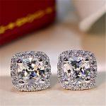 ULex 1ct 2ct 3ct Korean <b>Earrings</b> Color Diamond High-Carbon Diamond Stud <b>Earrings</b> 925 Sterling Sliver <b>Earrings</b> For Wedding