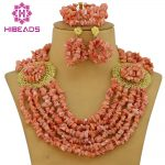 <b>Handmade</b> African Coral Beads <b>Jewelry</b> Set Coral Beads Necklace <b>Jewelry</b> Set African Wedding Sets Free Shipping CNR014