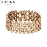 11.11 Deals Xuping <b>Fashion</b> Bracelet Top Quality Simple Smooth Small Heart Gold Color Plated Bracelet <b>Jewelry</b> Promotion 72450