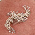 Korean handmade pearl comb delicate bride headdress plug combs tiara noiva wedding accessories hair <b>jewelry</b>