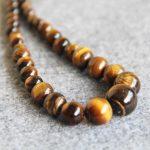 New 6-14mm Natural Tiger Eyes Stone Beads Tigereye Necklace Women Girls Beads Ornaments 15inch Fashion <b>Jewelry</b> <b>Making</b> Design
