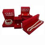 5pcs/set Red Velvet <b>Jewelry</b> Box Ring Earring Pendant <b>Necklace</b> Bracelet Gift box <b>Jewelry</b> Organizer Storage Boxes Display Holder