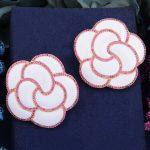 GODKI 40mm White Luxury Trendy Rose Flower Cubic Zirconia Naija <b>Wedding</b> Party Earring Fashion <b>Jewelry</b> for Women