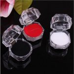 Wholesale 20pcs/lot 4x4cm Wedding <b>Decoration</b> Transparent Acrylic Earrings Ring Box <b>Jewellery</b> Jewelry Display Gift Box