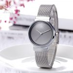 Shengke Women <b>Bracelet</b> Watches 2018 Top Brand Luxury Stainless Steel Quartz Watch Ladies <b>Silver</b> Watches Relogio Feminino