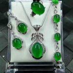yu xin yuan Fine <b>Jewelry</b> Natural 925 <b>Silver</b> Jade Medullary Ring Pendant Earrings Bracelet <b>Jewelry</b> Sets Women <b>Jewelry</b>