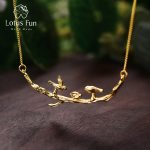 Lotus Fun Real 925 Sterling Silver <b>Handmade</b> Designer Fine <b>Jewelry</b> Cute Bird on Branches Necklace with Pendant for Women Collier