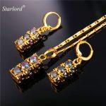 Nigerian <b>Wedding</b> African Beads <b>Jewelry</b> Set Crystal Cubic Zirconia Pendant Necklace Earrings Set Valentine's Day Gift PE1958