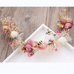 Handmade Eternal flower Wedding Tiaras Bride Headbands Hair Ornaments Bridal <b>Jewelry</b> Accessories For Women Prom Headdress