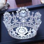 CC big crown tiara luxury high quality shine rhinestone pageant engagement <b>wedding</b> hair accessories for bride <b>jewelry</b> gift XY220