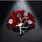 K's Gadgets Brooches Red Coral Bead Brooches Vintage Metal <b>Handmade</b> Pin <b>Jewelry</b> Pearl Shell Bird Brooch For Women