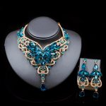 Fashion Indian <b>Jewelry</b> Set Dubai Crystal Necklace Earrings Bridal <b>Jewelry</b> Sets For Brides Party Wedding <b>Accessories</b> Decoration