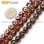 Round Dzi Beads Tibet Agates Beads For <b>Jewelry</b> <b>Making</b> 8mm 15inches DIY Jewellery FreeShipping Wholesale Gem-inside