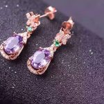 Natural amethyst drop <b>earrings</b> 925 <b>silver</b> natural crystal drop <b>earrings</b> for women personality Butterfly Fashion for anniversary