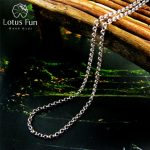 Lotus Fun Real 925 Sterling <b>Silver</b> Handmade Fine Jewelry Long <b>Necklace</b> Chain without Pendant Acessorios for Women Collier