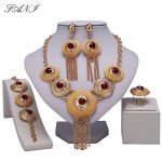 Fani <b>fashion</b> African <b>Jewelry</b> Sets brand 2018 Dubai Gold-color crystal <b>Jewelry</b> Set Wholesale nigerian bridal bead <b>Jewelry</b> Set
