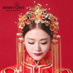 HIMSTORY Vintage Chinese Traditional <b>Wedding</b> Hair <b>Jewelry</b> Adorn Hair Accessories Queen Hairpin Pageant Phoneix Coronet Hairwear