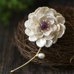 CMAJOR 925 <b>Sterling</b> <b>Silver</b> <b>Jewelry</b> Purple Crystal Brooch <b>Jewelry</b> Pendants Baroque Pearl Flower Brooches For Women