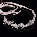 Handmade shinny crystal bridal wedding hair piece floral wedding pieces Rhinestone Leaves wedding hair <b>jewelry</b> ornaments RE198