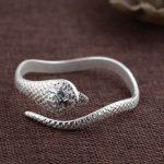 925 <b>Silver</b> Snake Bangle Fashion Simple Vintage Open Size Diameter 58mm 100% S925 <b>Sterling</b> <b>Silver</b> Bangles for Men Women <b>Jewelry</b>