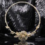 PATAYA New 585 Rose Gold Extreme Luxury Micro-wax Inlay Natural Zircon Flowers Chokers Necklace Women <b>Wedding</b> Party Fine <b>Jewelry</b>