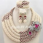 New Fabulous <b>Handmade</b> Beads For Women <b>Jewelry</b> Set African Wedding Fashion <b>Jewelry</b> Statement Necklace Set Free Shipping ABY334
