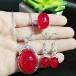 yu xin yuan Fine Jewelry Natural Jade Medullary 925 <b>Silver</b> Necklace <b>Earrings</b> Ring Fashion Charm Jewelry Sets Women Jewelry