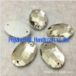 13x18mm 64pcs Oval 2 Holes Crystal Clear Sew on Buttons Flatback Sewing Fancy Stone <b>Jewelry</b> <b>Making</b>