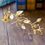 Gold Leaf Baroque Tiara Headband Flower Crown Hair <b>Jewelry</b> Bridal Hairband Headpiece Hair Band Wedding Hair Accessories WIGO0983