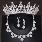 Luxury Crystal Bridal <b>Jewelry</b> Sets Wedding Tiara Crown Necklace Earring Fashion <b>Jewelry</b> Sets for Bridals Hair <b>Accessories</b>