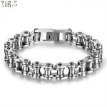 ZIRIS 316L Stainless Steel Cool Men Biker Bicycle Motorcycle Chain Men's Bracelets & Bangles <b>Fashion</b> 4 Color <b>Jewelry</b>