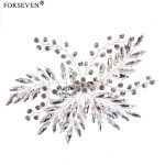 Noble Silver Handmade Crystal Hair pins For Wedding Hair <b>jewelry</b> <b>Fashion</b> Women Rhinestone Flower tiara Bride Hair Accessories