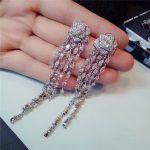 S925 <b>Sterling</b> <b>Silver</b> Long Drop Earrings For Women Luxury Tassels Hyperbole Camellia Vintage <b>Silver</b> Needles Vintage Fine <b>Jewelry</b>