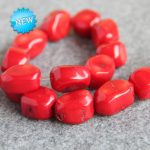 New For Necklace&Bracelet 12-20mm Natural Irregular Red Coral Beads Loose DIY Beads Stone 15inch Fashion <b>Jewelry</b> <b>Making</b> Design