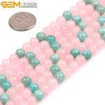 Gem-inside Natural Rose Quartzs Beads Russia Amazonite Beads For <b>Jewelry</b> <b>Making</b> 6mm 15inches DIY Jewellery