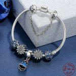 BISAER 925 Sterling <b>Silver</b> Ariel's Ice Crystal Princess Dream Safety Chain <b>Bracelets</b> for Women Authentic <b>Silver</b> Jewelry EDB005