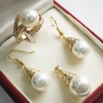 Women's Wedding noble new <b>jewelry</b> white + 12mm shell pearl pendant, earring, , ring set real silver <b>jewelry</b>