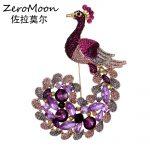 Elegance Crystal Rhinestone Peacock Brooch Pin Huge Metal Bird Women Garment Fashion <b>Jewelry</b> <b>Accessory</b> Gift