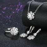 Ann & Snow High Quality 925 Sterling <b>Silver</b> Jewelry Set Bridal Flower Jewelry Sets for Women Wedding with AAA Zircon Stone