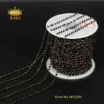 5Meter 2x3mm Black Glass Rosary Chain,Faceted Rondelle bead With Brass Chains,Tone Wire Wrapped Necklace <b>Fashion</b> Bracelet HX090