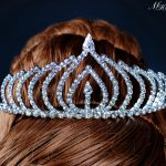 Simple Clear Crystal Tiaras Crown with Hair Combs Clear Austrian Rhinestones Headband Bridal Wedding Prom Party Hair <b>Jewelry</b>