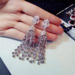 Tassels Long Drop Earrings For Women Hyperbole S925 <b>sterling</b>–<b>silver</b>–<b>jewelry</b> Luxury Super Flash Temperament Fine <b>Jewelry</b> Brincos