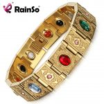Rainso Stainless Steel Bio Energy Bracelet <b>Fashion</b> Health FIR Bangle Magnetic <b>Jewelry</b> Bracelets For lady