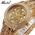MISSFOX Miss Fox Fashion Watch Women <b>Silver</b> Quartz Ladies Watches Top Brand Luxury Gold Wrist Watches For Women Clock Women