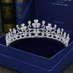 Paved CZ Crown Cubic Zircon Tiara Princess Tiaras <b>Wedding</b> Hair Accessories Bride Hair <b>Jewelry</b> Bijoux Cheveux Coroa WIGO1097