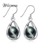 Freshwater Pearl drop earrings Pearl <b>Jewelry</b> retro Choker for Women Casual <b>Jewelry</b> Pearl 925 <b>Sterling</b> <b>Silver</b> Bohemia earrings