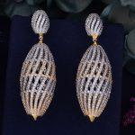 GODKI 70mm Luxury Trendy Hollow Ball Cubic Zirconia Naija <b>Wedding</b> Party Earring Fashion <b>Jewelry</b> for Women