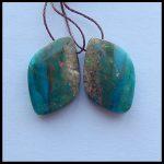 Natural Gemstone Blue Opal <b>fashion</b> earring,Semiprecious stone <b>Jewelry</b>,20x14x5mm,4g