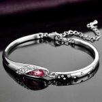 Jemmin Genuine S925 Sterling <b>Silver</b> <b>Bracelets</b> For Women Natural Crystal Bangle <b>Bracelets</b> Fine Jewelry Birthday Gift